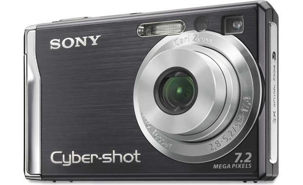 sony cyber shot dsc w80 black 7 2 megapixel digital camera rh crutchfield com sony super steady shot dsc-w80 manual sony steady shot dsc-w80 manual