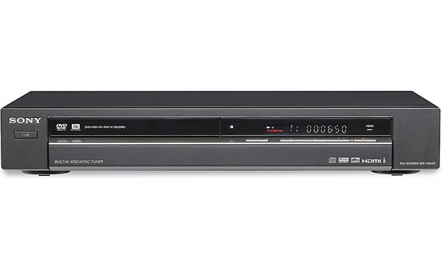 Sony Rdr Gxd455 Dvd Recorder With Built In Digital Tv Tuner And Dvd Video Upconversion At Crutchfield