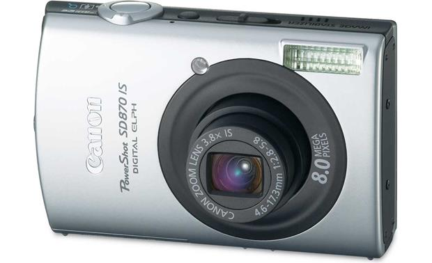 canon powershot sd870 is black silver 8 megapixel digital camera rh crutchfield com canon sd870 manual