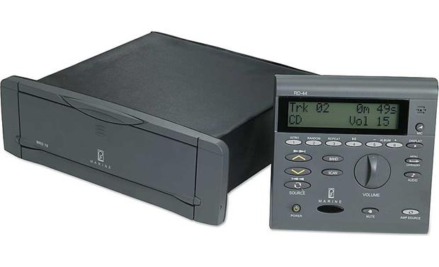 Poly Planar Mrd 70 (gray) Marine Cd Mp3 Receiver With Rd 44 Remote Poly Planar Mrd 70 Front
