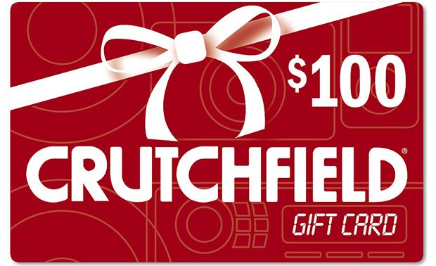 The Crutchfield Gift Card $100 — can be mailed or emailed