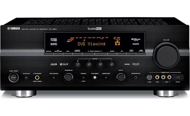 yamaha rx v663 home theater receiver with hdmi switching and video rh crutchfield com RX-V663 Receiver Diagram Setup Yamaha RX V663 Remote