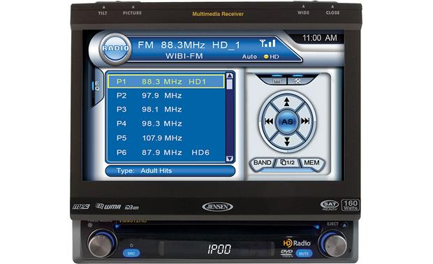 Jensen VM9312HD DVD receiver at CrutchfieldCrutchfield