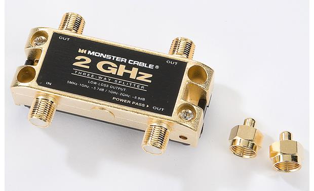 Monster Cable 3-way  RF splitter Front