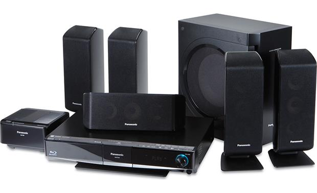 Panasonic SCBT100 Bluray Disc home theater system with wireless