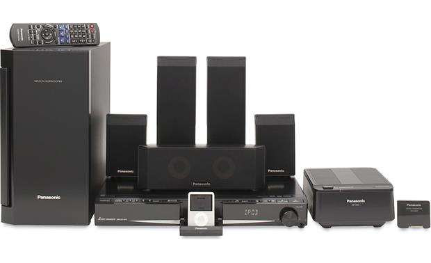 panasonic sc pt760 5 disc dvd home theater system with. Black Bedroom Furniture Sets. Home Design Ideas
