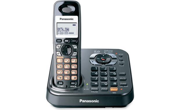 panasonic kx tg9341t black dect expandable cordless phone system rh crutchfield com panasonic cordless phone kx-tg9341t manual Panasonic 6.0 Cordless Phone Manual