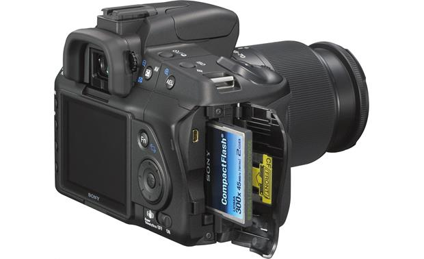 Sony Alpha DSLR-A200 Kit Memory card door open