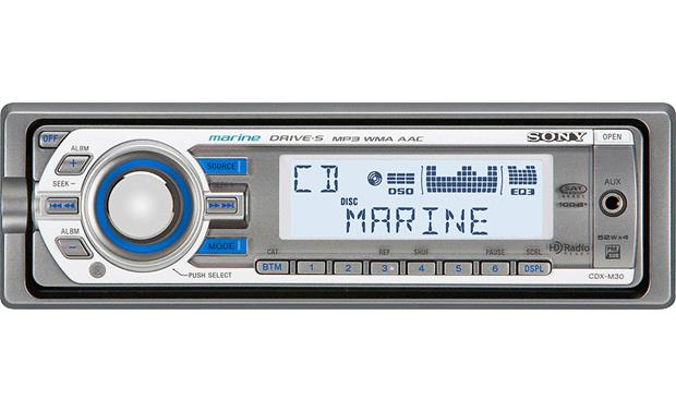 sony cdx m30 marine cd receiver with front panel auxiliary input at crutchfield