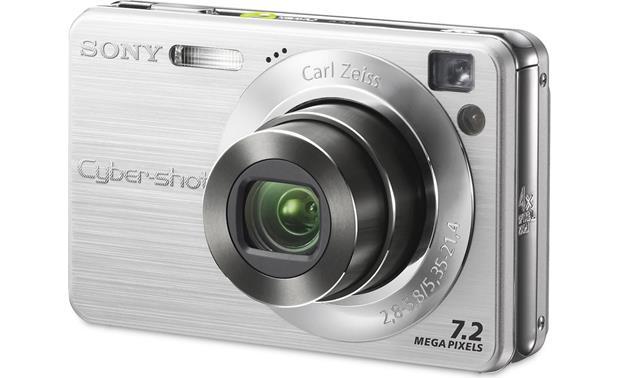 sony cyber shot dsc w120 silver 7 2 megapixel digital camera with rh crutchfield com
