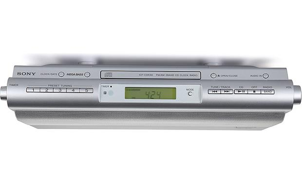 Sony ICF-CDK50 Kitchen CD player/clock radio at Crutchfield.com