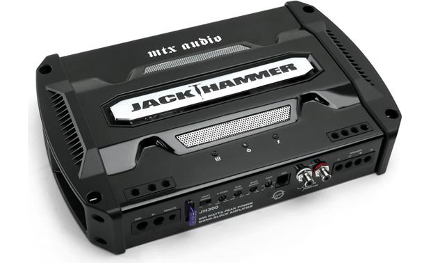 mtx jackhammer jh300 mono subwoofer amplifier 300 watts rms x 1 mtx jackhammer jh300 front