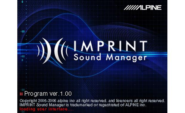 Alpine imprint sound manager software developer