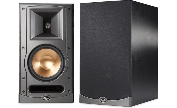 klipsch reference series rb  black bookshelf speakers