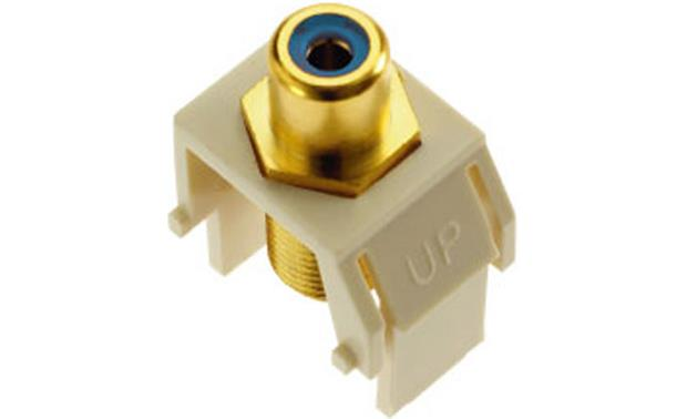 On-Q RCA to F-Type Keystone Connector Blue