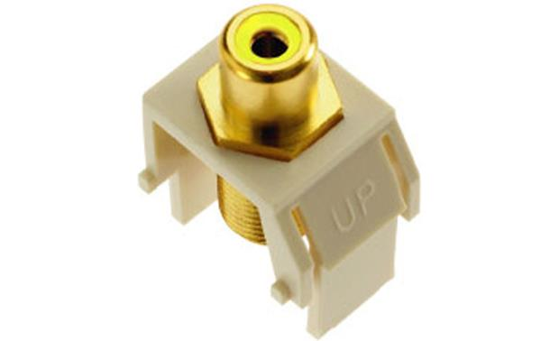 On-Q RCA to F-Type Keystone Connector Yellow