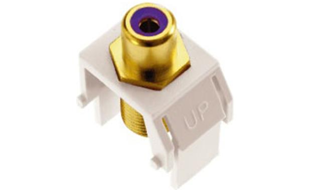 On-Q RCA to F-Type Keystone Connector Purple