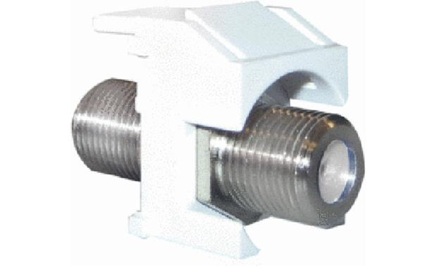 On-Q Recessed Nickel F-type Connector (White) Front