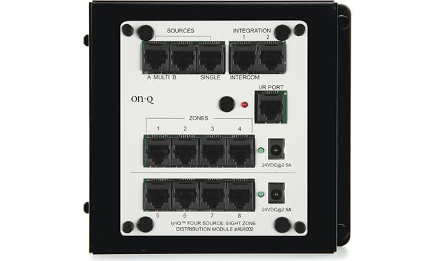 On-Q lyriQ™ Four-Source, Eight Zone Distribution Module Front