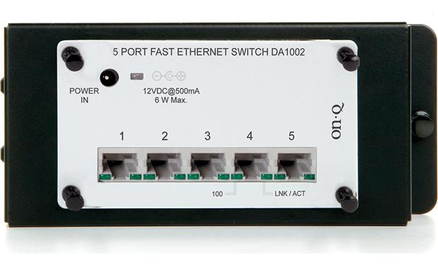On-Q 5-port 10/100 Ethernet Network Switch Front