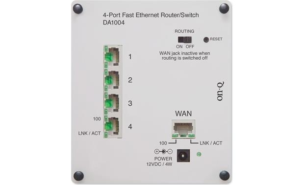 On-Q 4-port 10/100 Double-bay Router Front