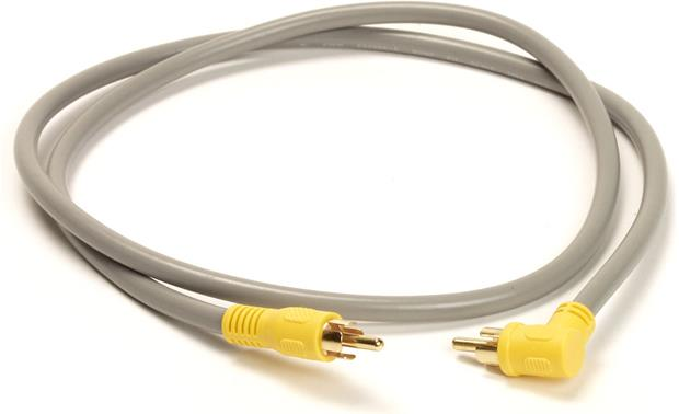 On-Q RCA To RCA Patch Cable, 90 Degree Front