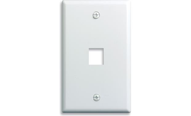On-Q Single-Gang Wall Plate (White) 1-Port Single-Gang Wall Plate