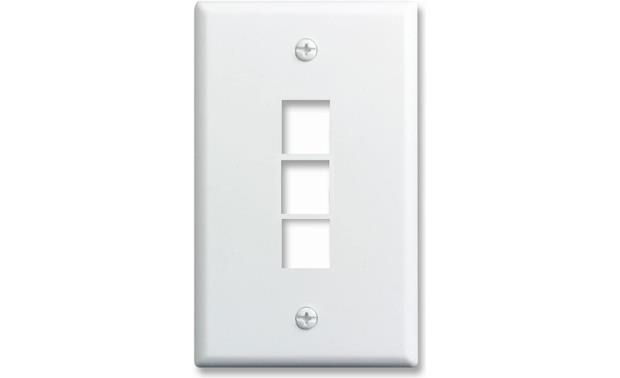 On-Q Single-Gang Wall Plate (White) 3-Port Single-Gang Wall Plate