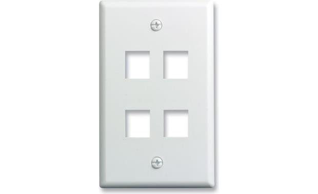 On-Q Single-Gang Wall Plate (White) 4-Port Single-Gang Wall Plate