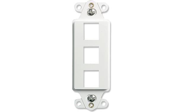 On-Q Decorator Strap (White, Decora-style) 3-Port Decorator Strap
