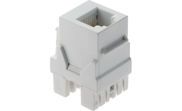 On-Q RJ-25 Telephone Connector (White) Front