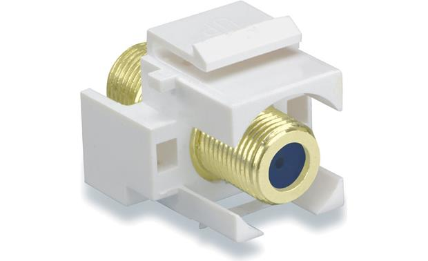 On-Q Recessed Gold F-type Connector (White) Front