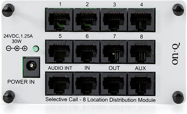 On-Q Selective Call 8-Location Distribution Module Front