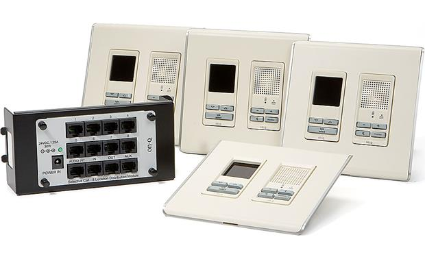 On-Q Selective Call Four-location Intercom Kit Light Almond