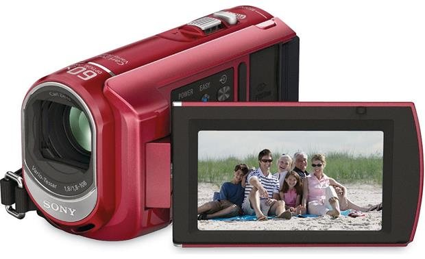 Sony DCR-SX40 Handycam® Front - Red