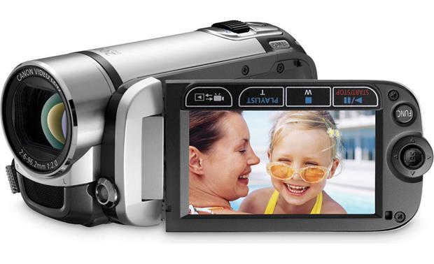 canon fs200 misty silver sdhc memory card camcorder at rh crutchfield com Canon FS200 Battery Canon FS100