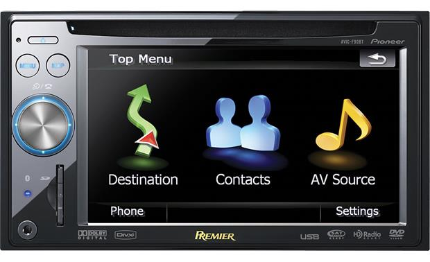 pioneer premier avic f90bt navigation receiver at crutchfield com
