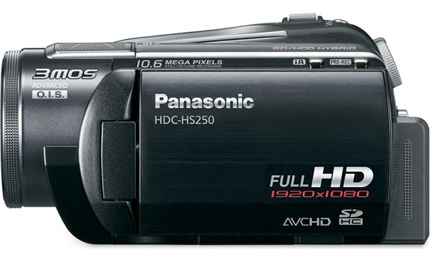 Panasonic HDC-HS250 Left