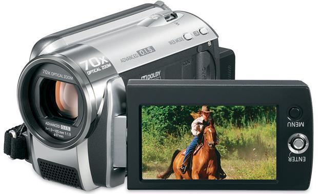 panasonic sdr h80 silver 60gb hard drive sd memory card camcorder rh crutchfield com Panasonic SDR- H85 Panasonic SDR- H85