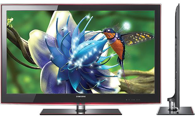 Samsung UN40B6000 LED TV Front and side views