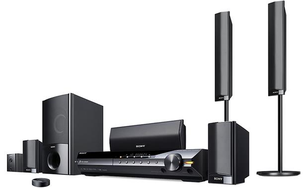 Sony Dav Hdx589w 5 Disc Bravia Dvd Home Theater System With Ipod Dock And Wireless Rear Speaker Kit At Crutchfield