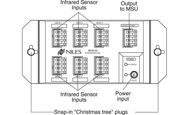 Niles Irh610 Infrared Sensor Expansion Hub At Crutchfield
