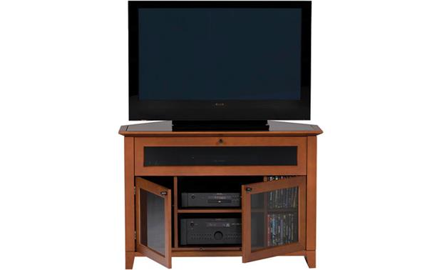 BDI Novia™ Series 8421 Cocoa: Doors open (TV and components not included)