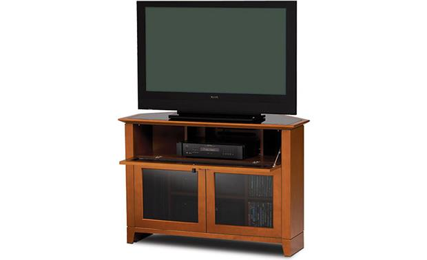 BDI Novia™ Series 8421 Cocoa: Drawer open (TV and components not included)