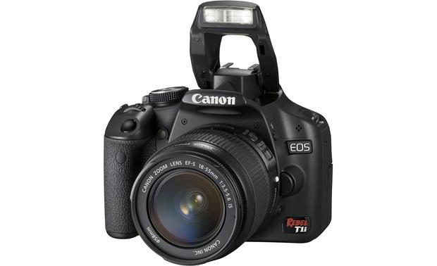 Canon EOS Digital Rebel T1i Kit Front (flash up)