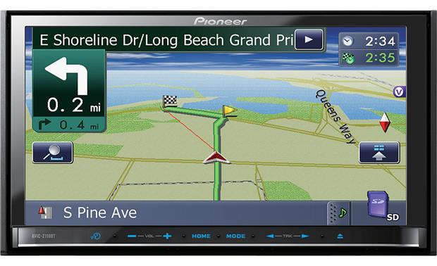 pioneer avic z110bt navigation receiver at crutchfield com
