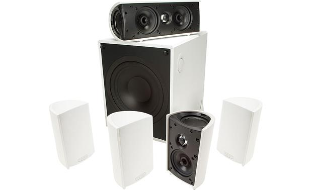definitive technology speakers. definitive technology procinema 600 front - white speakers
