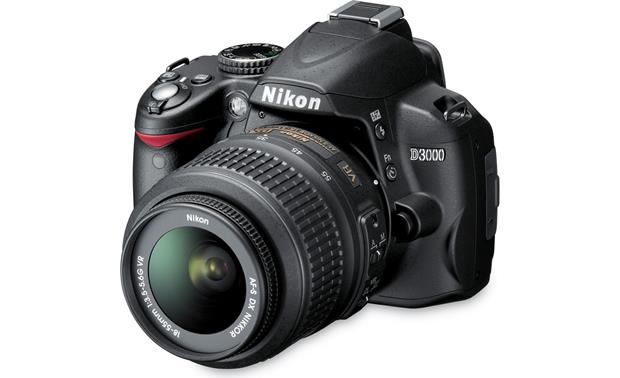 Nikon D3000 Kit Front (with 18-55mm lens attached)