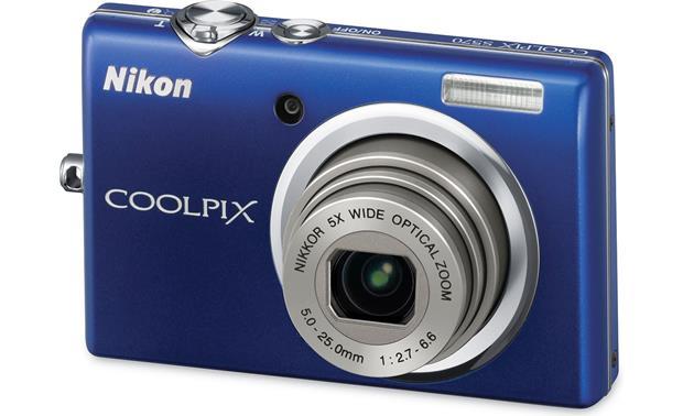 nikon coolpix s570 blue 12 megapixel digital camera with 5x rh crutchfield com