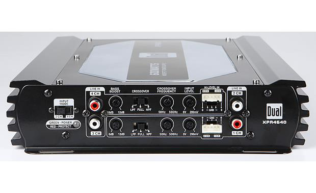 Dual XPA4640 4-channel car amplifier — 50 watts RMS x 4 at CrutchfieldCrutchfield